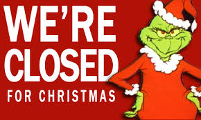 Library closes for the Christmas break