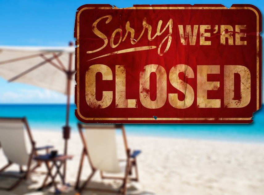 Closed for the summer holidays...